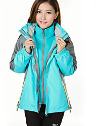 Women's 3-in-1 Jackets Waterproof Thermal / Warm Windproof Fleece Lining Antistatic Tracksuit Coverall for Skiing Camping / Hiking
