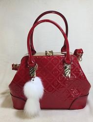 Mulher Bolsas Todas as Estações Couro Ecológico Conjuntos de saco com para Casual Dourado Café Vermelho Vinho Azul Real