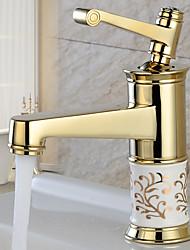 Moderna Conjunto Central Separada Válvula Cerâmica Uma Abertura Monocomando e Uma Abertura Cromado, Torneira pia do banheiro