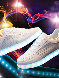cheap -Unisex Running Shoes 2018 New Arrival LED Shoes LED light Luminous Shoes USB Charging  Basket Fashion Casual Sneakers Black /White