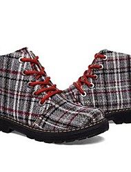 Women's Boots Spring Summer Fall Winter Canvas Outdoor Dress Casual Wedge Heel Coffee Light Brown Walking