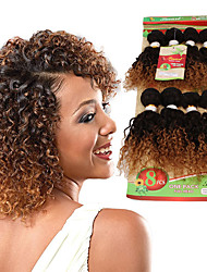 cheap -8inch 8 pcs /lot Brazilian deep curly Virgin Hair Brazilian Virgin Hair kinky curly  Hair Weave Bundles cheap human hair