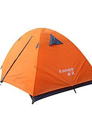 cheap -2 persons Tent Double Camping Tent One Room Waterproof Portable Windproof Dust Proof Foldable Breathability Ultra Light(UL) Flannel lined
