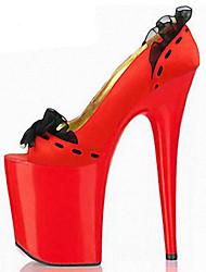 Da donna-Tacchi-Tempo libero Casual Serata e festa Formale-Club Shoes Comoda Innovativo-A stiletto-PU (Poliuretano)-Nero Rosso