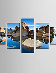 Canvas Set Abstract Landscape Classic Mediterranean,Five Panels Canvas Any Shape Print Wall Decor For Home Decoration