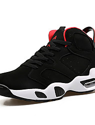 Basketball Shoes Men's Athletic Shoes Spring Fall Comfort PU Tulle Athletic Casual Flat Heel Lace-up Black Red White