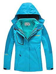 Femme Veste de Randonnée Extérieur Hiver Etanche Garder au chaud Pare-vent Polaire Dé+D6811tachable Epais Coupe-vent Anorak 3 en 1 Veste