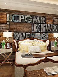 cheap -JAMMORY Magic Retro Wood Letters Background Wallpaper Mural  Wall Covering Canvas Material Golden Church XL XXL XXXL