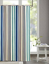 cheap -Shower Curtains Neoclassical Polyester Stripe Machine Made