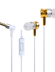 cheap -HUAST HST-51 Stereo HeadPhone In Ear Earphone Metal Handsfree Headset with Mic 3.5mm Earbuds For All Phone MP3 Player