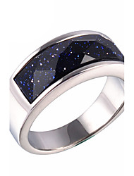 cheap -Men's Ring Statement Ring Galaxy Fashion Synthetic Gemstones Titanium Steel Costume Jewelry Daily Casual