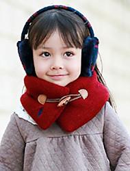 Bambine Maschio Sciarpe Inverno Maglia-Blu Rosso