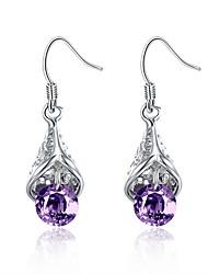 Náušnice - Kruhy Šperky luxusní šperky Evropský Měď Postříbřené Kapka Šperky Pro Svatební Párty Denní Ležérní 1 pár