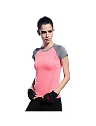 Women's Running T-Shirt Quick Dry Breathable Soft T-shirt Top for Yoga Pilates Exercise & Fitness Leisure Sports Running Tactel Slim