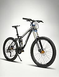 Недорогие -Горный велосипед Велоспорт 27 Скорость 26 дюймы/700CC 60мм Мужской SHIMANO M370 Гидравлический дисковый тормозПередняя вилка с