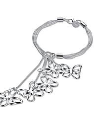 Dámské Řetězové & Ploché Náramky Měď Postříbřené Animal Shape Motýl Šperky Pro Narozeniny Zásnuby 1ks