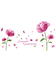 cheap -Wall Stickers Wall Decals Style Pink Blossom PVC Wall Stickers