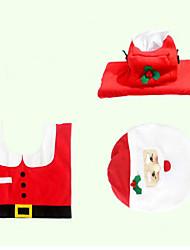 Недорогие -Рождественская оригинальность трех частей устройство туалета Санта-Клауса
