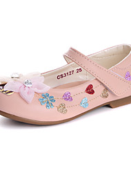 Girls' Flats Comfort Flower Girl Shoes Leatherette Spring Fall Wedding Casual Dress Party & Evening Comfort Flower Girl ShoesRhinestone