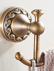 cheap -New Arrival Bathroom Accessories European Antique Copper Robe Hook Clothes Hook Coat Hook