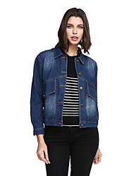 cheap -Women's Chic & Modern Jacket - Solid Color, Formal Style