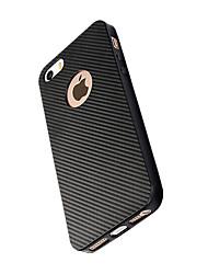 economico -Per iPhone X iPhone 8 Custodie cover Resistente agli urti Custodia posteriore Custodia Tinta unica Morbido Fibra di carbonio per Apple