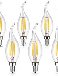economico -4W E14 Lampadine LED a incandescenza CA35 4 leds COB Bianco caldo Luce fredda 400lm 2700/6000K AC 220-240V