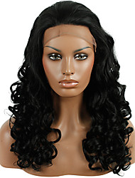 cheap -Synthetic Lace Front Wig Loose Wave Natural Hairline Black Women's Lace Front Natural Wigs Synthetic Hair