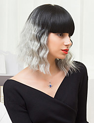 abordables -la moda peinados bob sin tapa pelucas ombre ondulado natural del pelo humano se funde