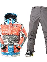 Ski Wear Ski/Snowboard Jackets Men's Winter Wear Polyester Winter ClothingWaterproof Thermal / Warm Windproof Fleece Lining Ultraviolet