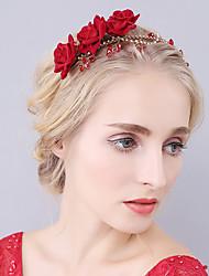 baratos -Cristal Strass Veludo Tiaras Bandanas Flores Capacete