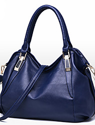 Women Bags All Seasons PU Tote Rivet for Event/Party Formal Office & Career Blue White Black Wine Brown