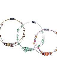 Feminino Bracelete Cristal Vidro Opala Moda Roxo Vermelho Verde Jóias 1peça