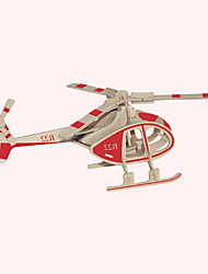 cheap -Wooden Puzzles Plane / Aircraft Famous buildings Chinese Architecture Helicopter House Professional Level Wood Christmas Carnival Birthday