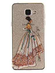 cheap -For Samsung Galaxy A5 A5(2016) A3 A3(2016) Case Cover Fashion Girl Pattern IMD Process Painted TPU Material Phone Case