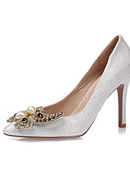 Women's Heels Spring Summer Fall Winter Glitter Leatherette Wedding Party & Evening Dress Stiletto HeelRhinestone Applique Imitation