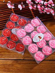 Handmade Rose Shape Candles Holiday  Pvc Boxed Roses Home Decoration