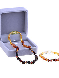 Natural Amber Stone Baby Necklace and Bracelet Set Supply Certificate Authenticity Genuine Baltic Amber Necklace For Adult Baby