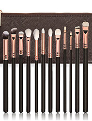 cheap -12pcs Makeup Brushes Professional Makeup Brush Set / Eyeshadow Brush / Lip Brush Nylon / Synthetic Hair Portable / Travel / Eco-friendly Wood