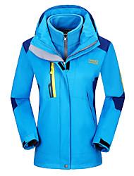 Per donna Giacche 3-in-1 Ompermeabile Tenere al caldo Antivento Tuta da ginnastica per Sci Campeggio e hiking Attività ricreative Sport