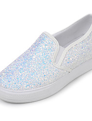 Women's Sneakers Spring Summer Fall Glitter Casual Party & Evening Wedge Heel Sequin White Black Blushing Pink Walking