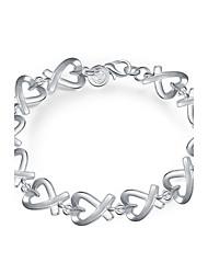 Náramky Řetězové & Ploché Náramky Měď Postříbřené Heart Shape Srdce Módní Bohemia Style Punkový styl Přizpůsobeno Denní Ležérní Šperky