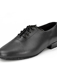 Keine Maßfertigung möglich-Flacher Absatz-Leder-Jazz Tanz-Turnschuh Modern Salsa Swing Schuhe-Herren