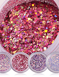 cheap -Shiny Nail Glitter Powder Red Pink Purple Nail Sequins Manicure Nail Art