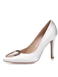 Women's Heels Spring Summer Fall Winter Silk Wedding Dress Party & Evening Stiletto Heel White Black Blue Light Pink