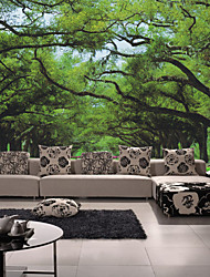 cheap -JAMMORY Mural Trees/Leaves Wallpaper Contemporary Wall CoveringCanvas Yes Large Mural Lush Forest TreesXL XXL XXXL