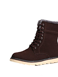 cheap -Men's Boots Fall Winter Comfort Suede Casual Flat Heel Lace-up Black Brown Yellow Walking