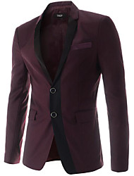 cheap -Men's Simple Blazer - Solid Colored