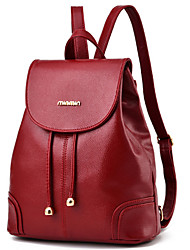 Women Bags All Seasons PU Backpack Rivet for Casual Outdoor Blue Black Red