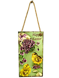 Wooden Easter chicks listed commemorate the resurrection of Jesus live in wooden chicken design hangs Taiwan